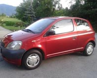A red Toyota Yaris (not ours)